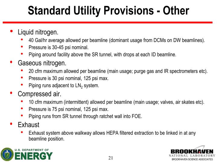 Standard Utility Provisions - Other