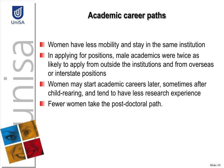 Academic career paths
