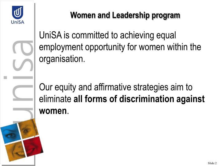 Women and Leadership program
