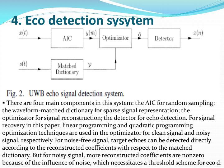 4. Eco detection