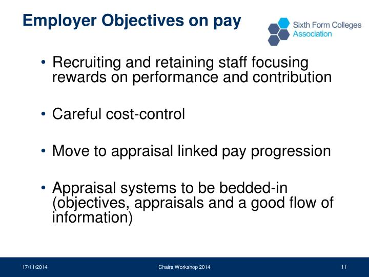 Employer Objectives on