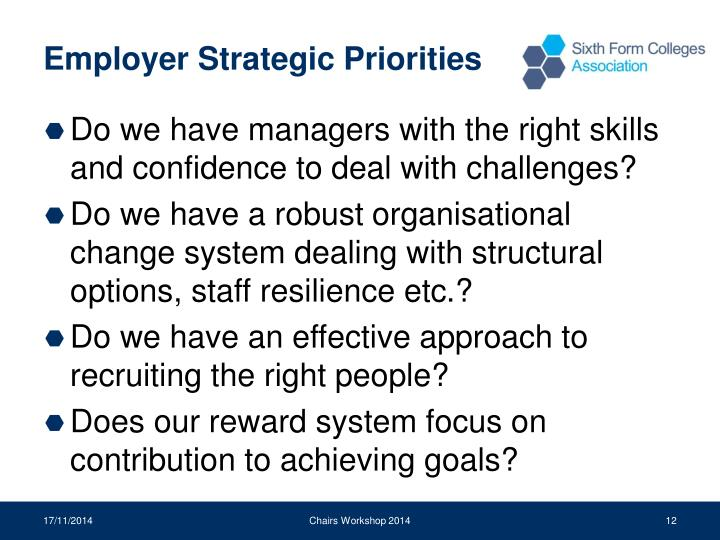 Employer Strategic Priorities