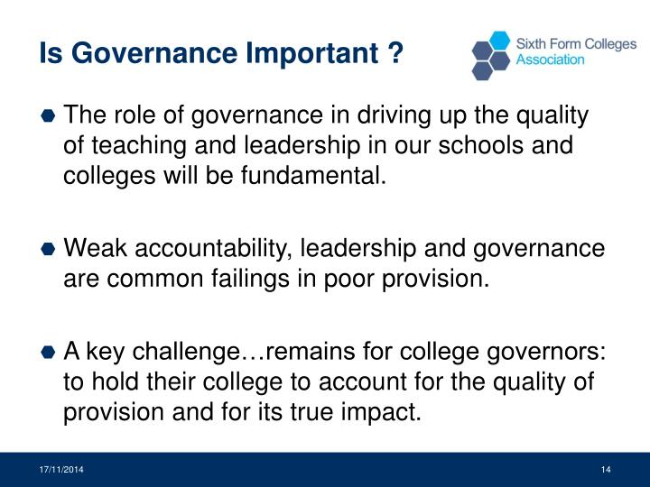 Is Governance Important ?