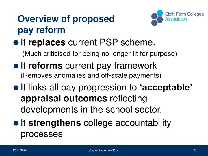 Overview of proposed pay reform