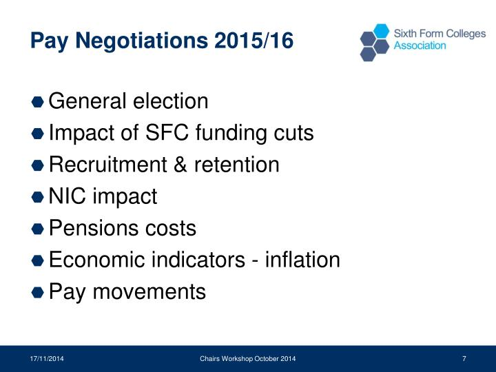 Pay Negotiations 2015/16