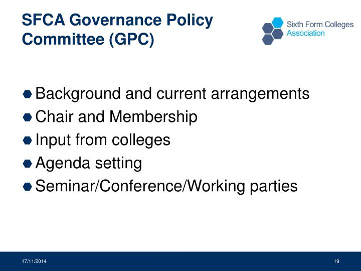 SFCA Governance Policy Committee (GPC)