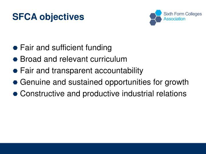 SFCA objectives