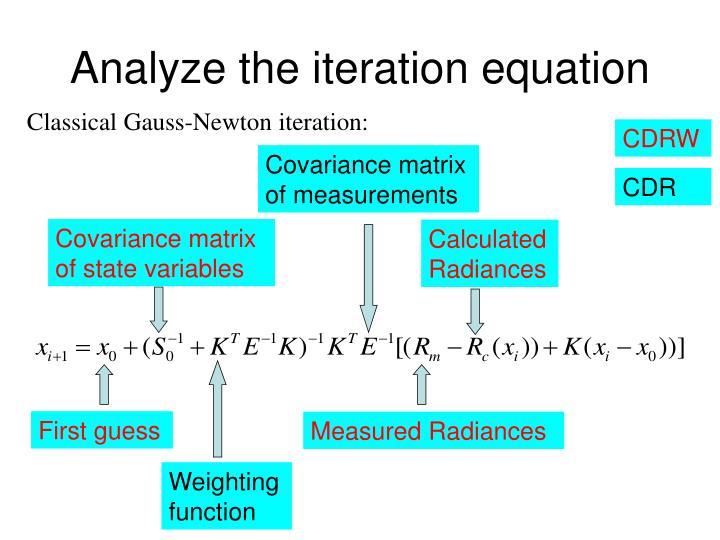 Analyze the iteration equation