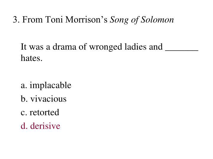 3. From Toni Morrison's
