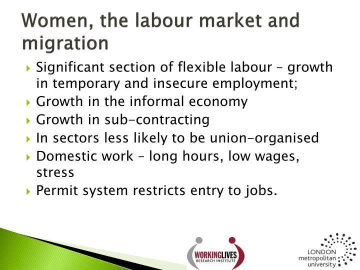 Women, the labour market and migration
