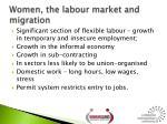 women the labour market and migration