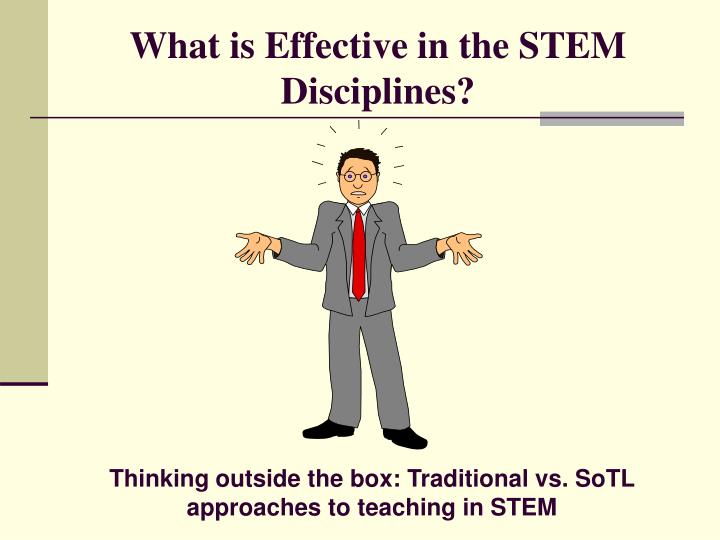 What is Effective in the STEM Disciplines?
