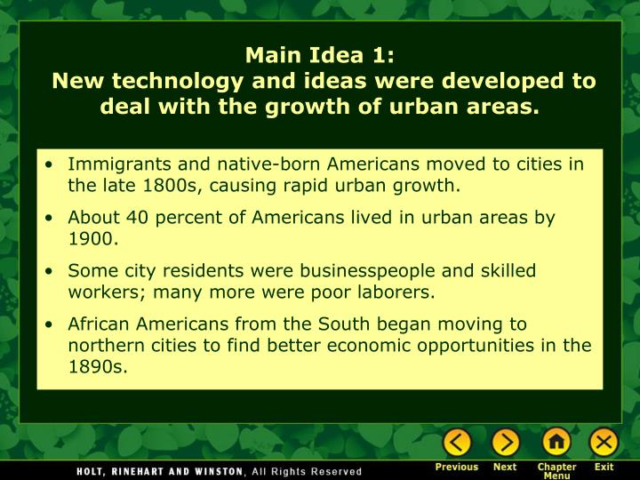 Immigrants and native-born Americans moved to cities in the late 1800s, causing rapid urban growth.