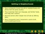 settling in neighborhoods