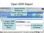 open sdr report