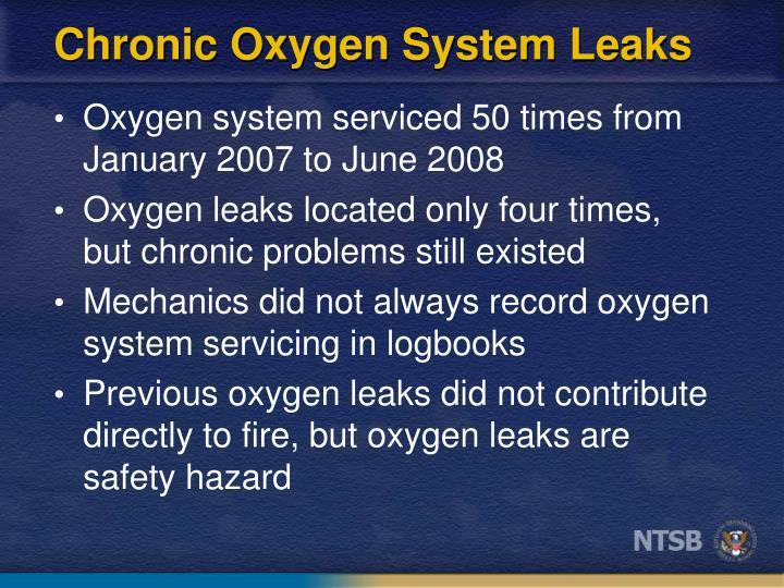 Chronic Oxygen System Leaks