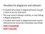 penalties for plagiarism and collusion