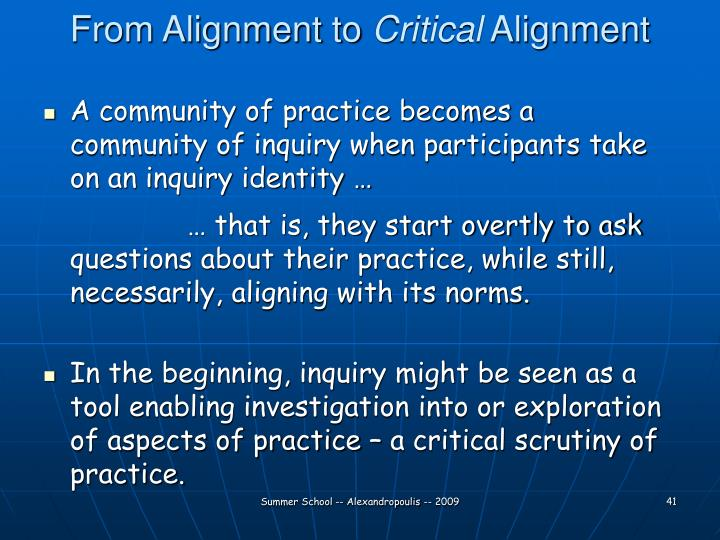 From Alignment to