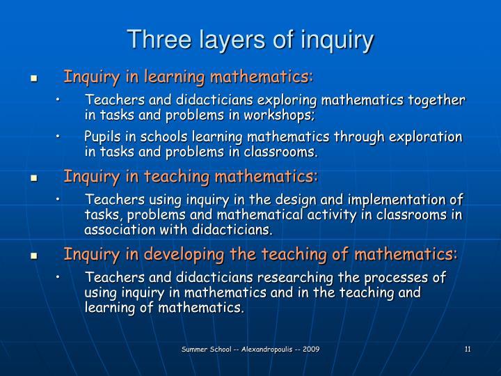 Three layers of inquiry