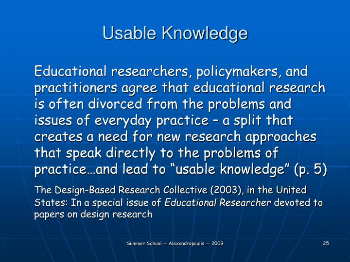 Usable Knowledge