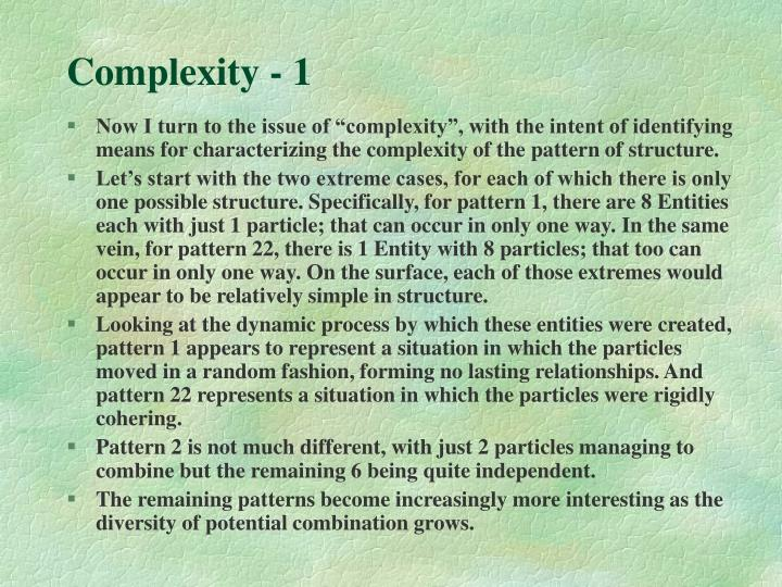 Complexity - 1