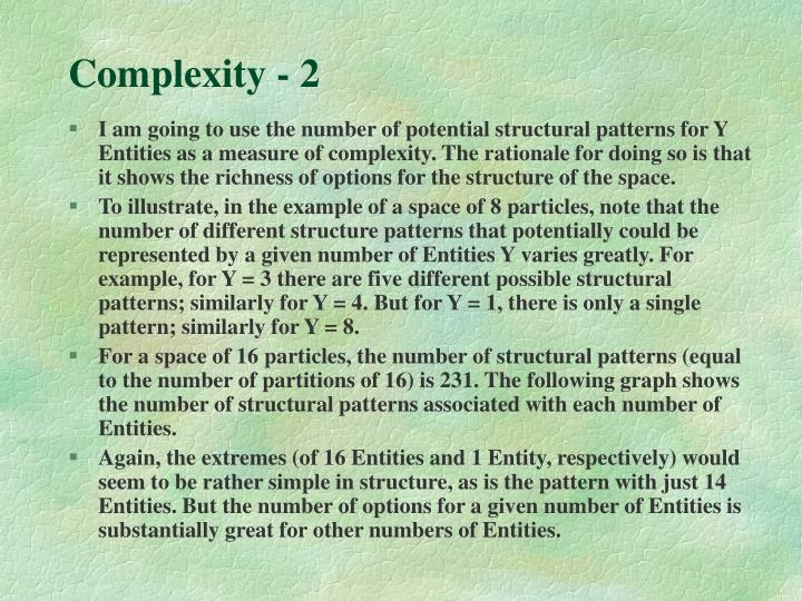 Complexity - 2