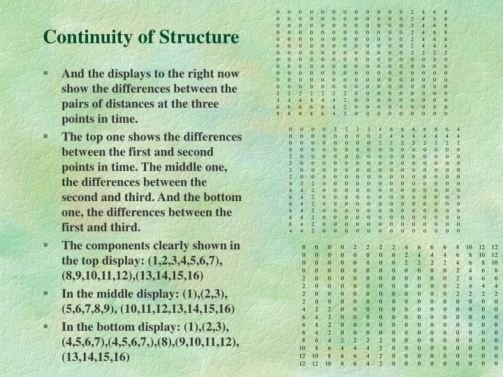 Continuity of Structure