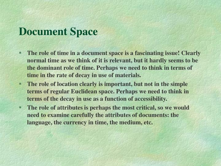 Document Space