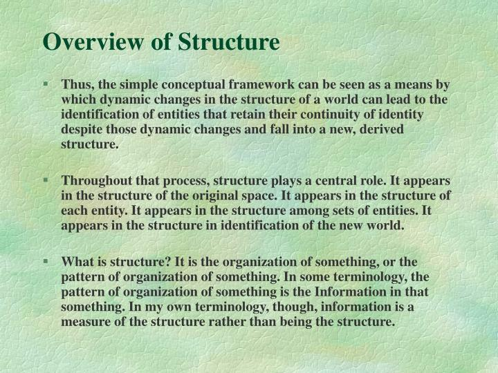 Overview of Structure
