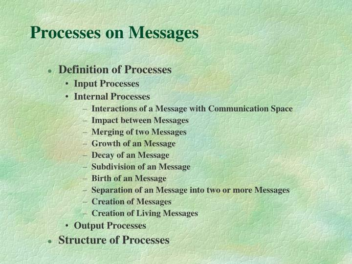 Processes on Messages
