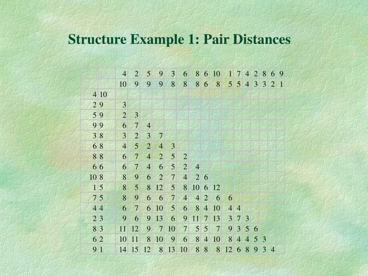 Structure Example 1: Pair Distances