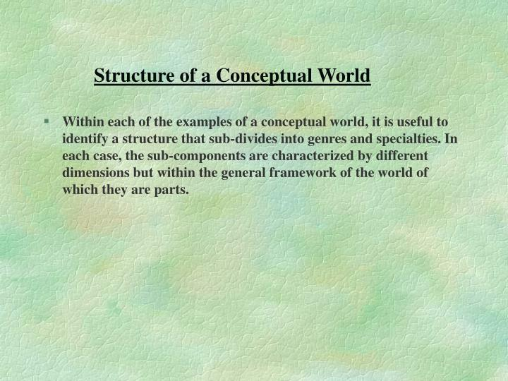 Structure of a Conceptual World