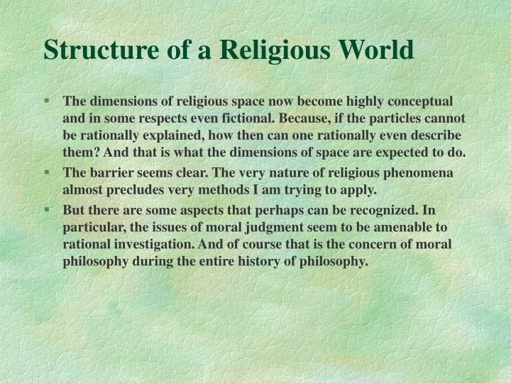 Structure of a Religious World