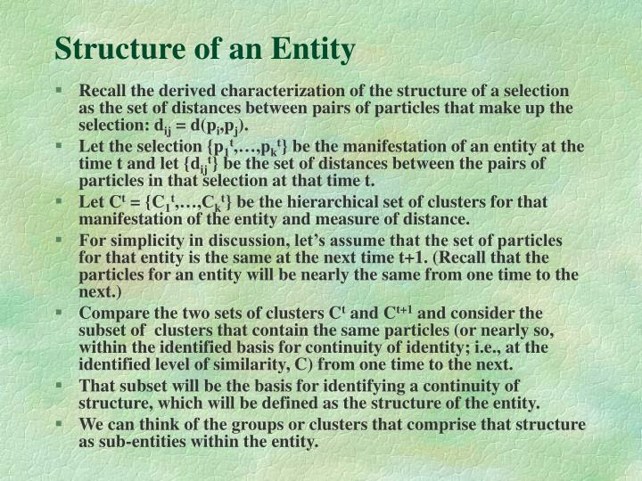Structure of an Entity