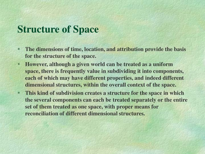 Structure of Space