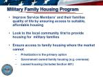 military family housing program
