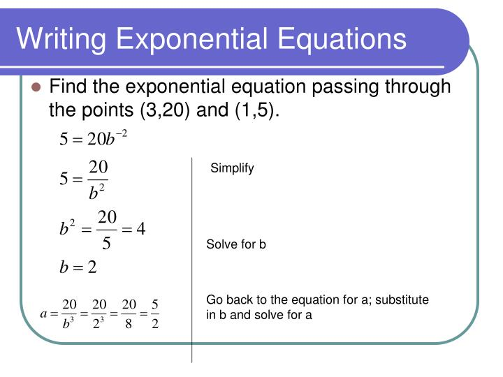 Writing Exponential Equations
