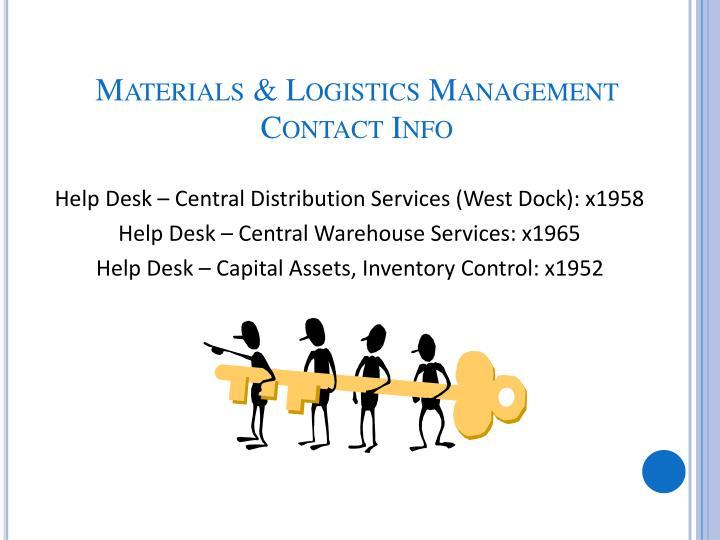 Materials & Logistics Management