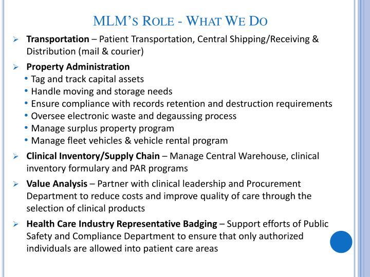 MLM's