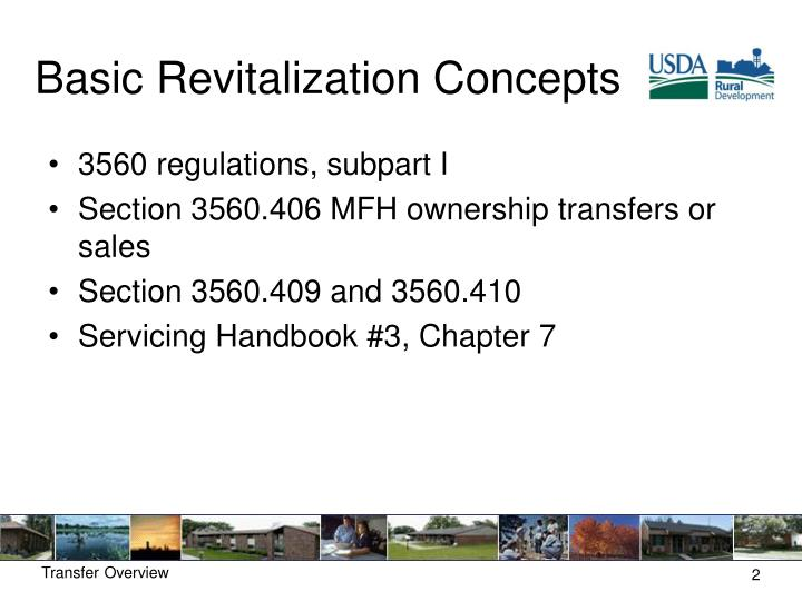Basic Revitalization Concepts