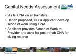 capital needs assessment