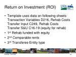 return on investment roi1