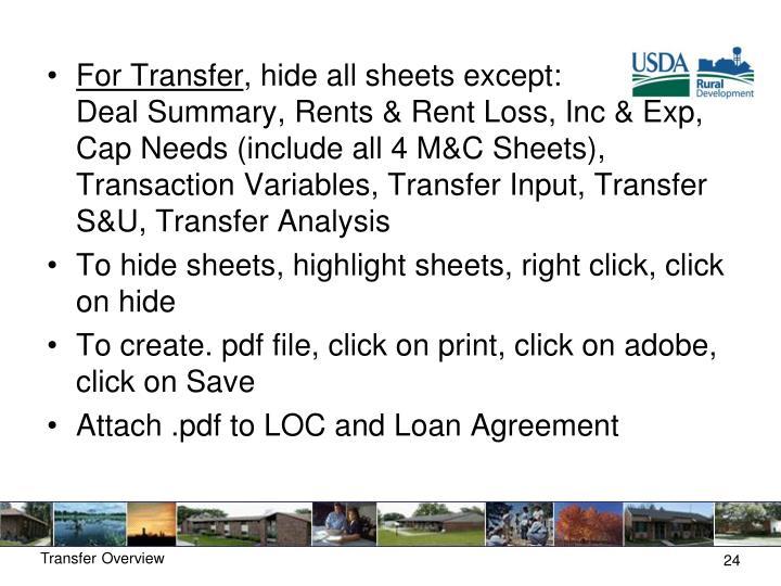 For Transfer