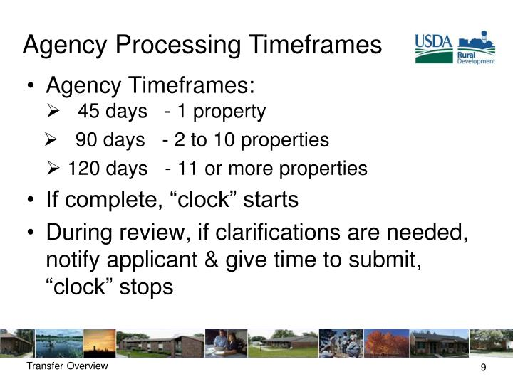Agency Processing
