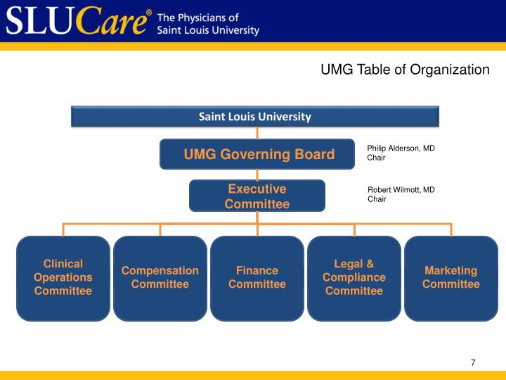 UMG Table of Organization