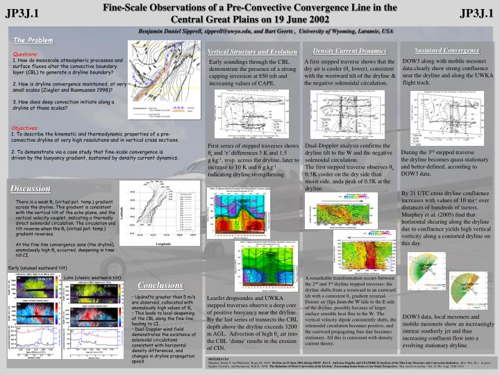 Fine-Scale Observations of a Pre-Convective Convergence Line in the