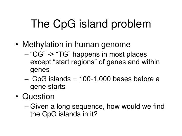 The CpG island problem