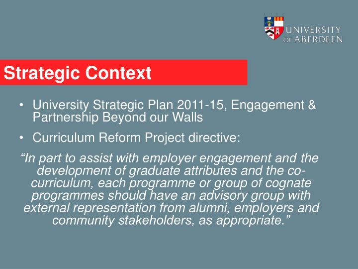 Strategic Context