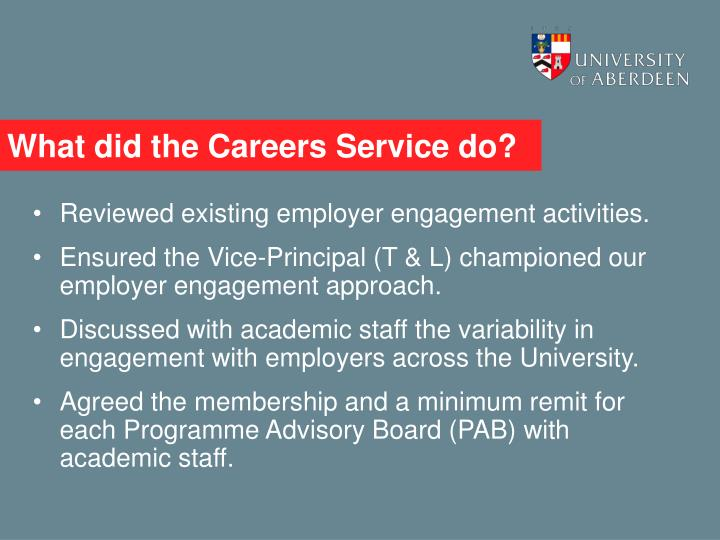 What did the Careers Service do?