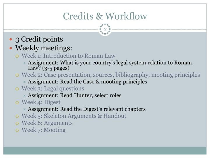 Credits & Workflow